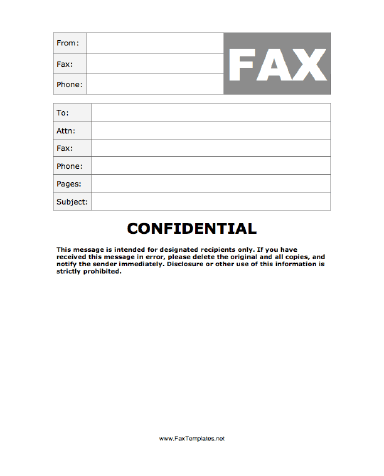 Fax Template  Fax Templates For Word